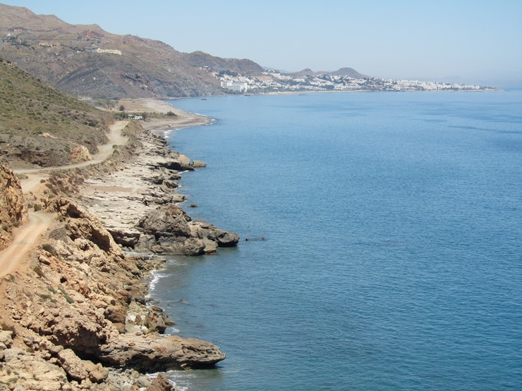 Costa Macenas looking toward Mojacar, Almeria, Andalucia