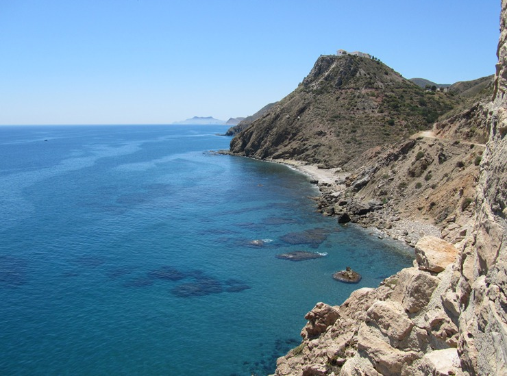 The View from El Pirulico Tower looking south along Costa Macenas, Almeria, Andalucia
