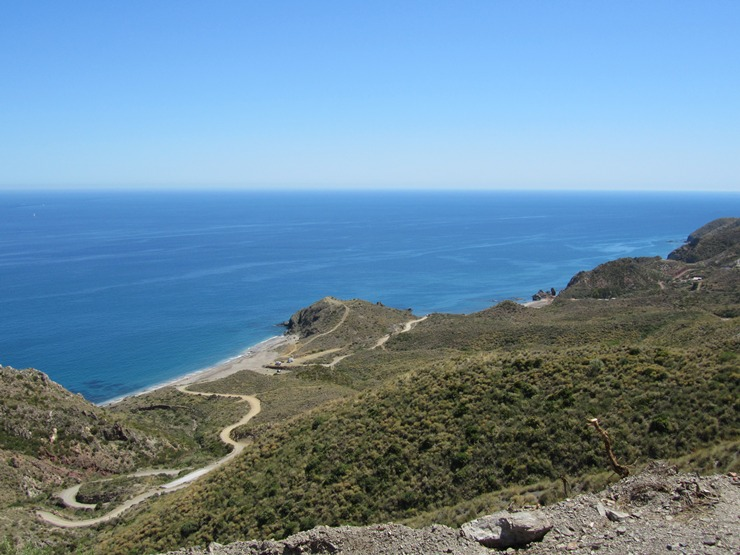 An elevated view of Costa Macenas, Almeria, Andalucia