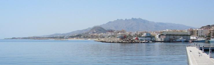 Garrucha Harbour, Costa Almeria Looking Towards the Sierra Cabrerra Mountains